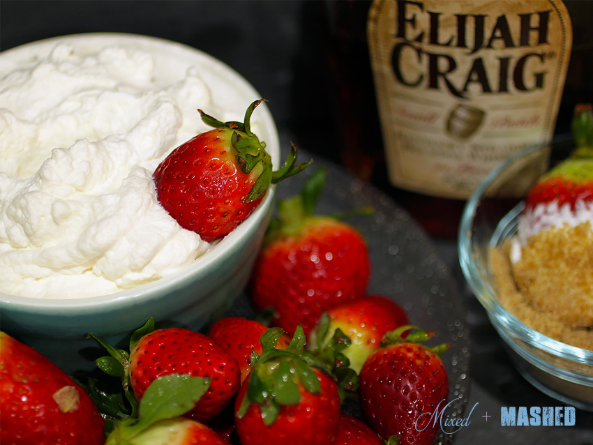 Strawberries-and-bourbon-whipped-cream